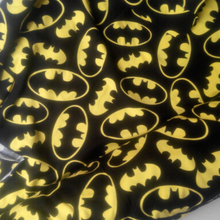 Batman cotton fabrics soft Knitted yellow&black cartoon cloth 2 way stretch DIY Sewing Artcraft Patchwork baby shirt clothes(China)