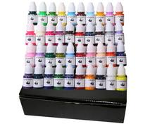High Quality set of 40 Colors Tattoo Ink Pigment 8ml/Bottle For Tattoo Kits Gun Grips Beauty Tattoo Supply by nani(China)