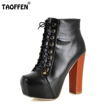 Women Ankle Boots High Heel Shoes Short Winter Botas Sexy Vintage Fashion Quality Footwear Warm Fur Boot P2182 Sale Size 34-39