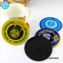 Custom your logo or photo hotel coffee shop printed coasters hot sale Kitchen Tool Waterproof Placemat coaster set