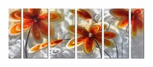 Flower Aluminum Wall Art Original Large Abstract Painting Modern Contemporary Sculpture Decorative Artwork(China)