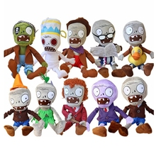 1pcs 30CM 12'' Plants vs Zombies Soft Plush Toy Doll Baby Toy Gifts Party toys Free shipping(China)