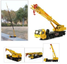 KDW 1:55 Engineering vehicles 20cm mega lifter Alloy car model Lifting cranes Multiple joint activities toys for children(China)
