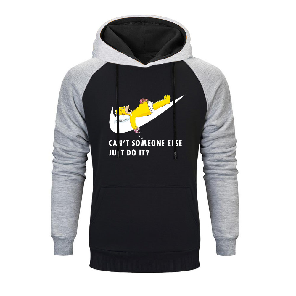 New Brand Logo Simpsons Printed Men Raglan Hoodies 2019 Autumn Hip Hop Just Break It Fashion Comfortable Casual Sweatshirts