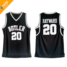 New Gordon Hayward Basketball Jerseys 20# Butler Bulldogs Throwback Stitched Commemorative Top Quality Retro Black Shirt For Men(China)