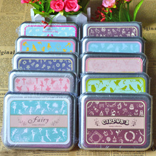10 Styles DIY Craft Stamps Scrapbooking Vintage Lace Stamp Wooden Stamps Iron Box Sealing Stamp Set tinta sellos