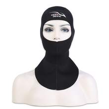 3MM Unisex Diving Snorkel Neck Warm Hood SBR CR Ultra-soft Adult Water and Paddle Sports Solid Black Swimming Diving Hood