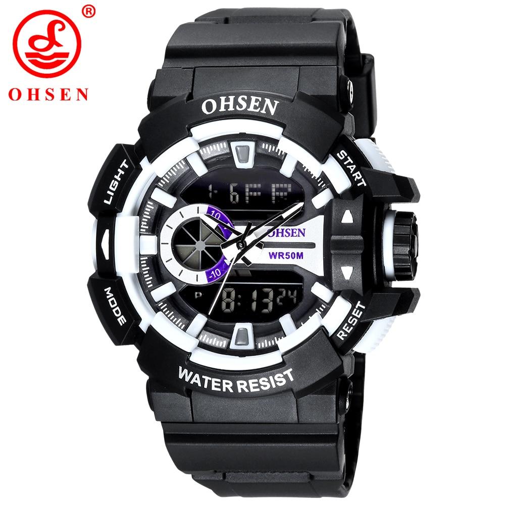 2017 New OHSEN Brand Men Boy LED Digital Military Watch 50M Waterproof Dive Swim Dress Sports Watches Fashion Outdoor Wristwatch<br><br>Aliexpress