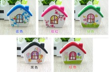 LIUSVENTINA cute house contact lens case lenses container