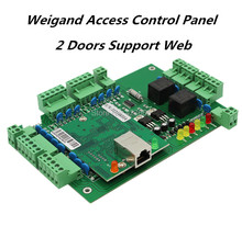 High Quality Webserver TCP/IP wiegand  two doors wiegand access control board with free software