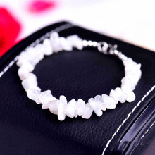 Blue Moonstone Crystal Bracelet Clasp Jewelry Rose Natural Stone Bracelet Wristband Charm Braclet For Men Women Accessories