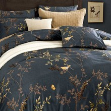 2017 Luxury Egyptian Cotton Bedding Set Embroidery Flowers Multicolor Abstract Flowers Bedspread King Queen Size Designer(China)