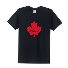 New Arrival Canada Flag T Shirt New Men Shion T-shirt Summer Style Short Sleeve Canada Logo  T Shirts Tops Men Clothing OT-171