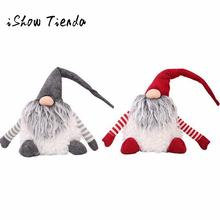 Hot Sale 2 Colors Christmas Decorations for Home Santa Claus Xmas Doll Party Christmas Gift Natale Decorazioni Ornament(China)