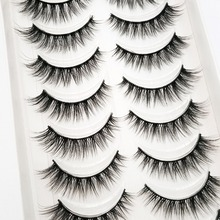 Extension Eyelash Mink-Lashes Long-Makeup Beauty Natural 5/10-Pairs for 54 3d NEW