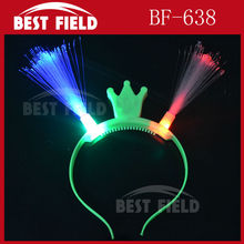 Free shipping 200pcs/lot led optical fiber headwear Princess Light Up Headband Flashing Crown Blinking LED Party Supply