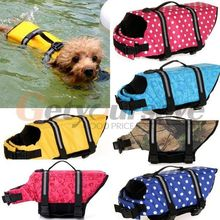 Pet Dog Swimmer Life Jacket Safety Vest Preserver XS Small Medium Extra Large