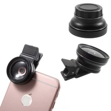 Buy Dulcii Universal Clip-on 37mm 0.45X Wide Angle Lens & Macro Lens 2-in-1 Mobile Phone Camera Lens Kit Black for $10.88 in AliExpress store
