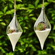 Hanging Glass Vase Hanging Terrarium Hydroponic Flower Clear Container Indoor Hanging Vase Home Decor