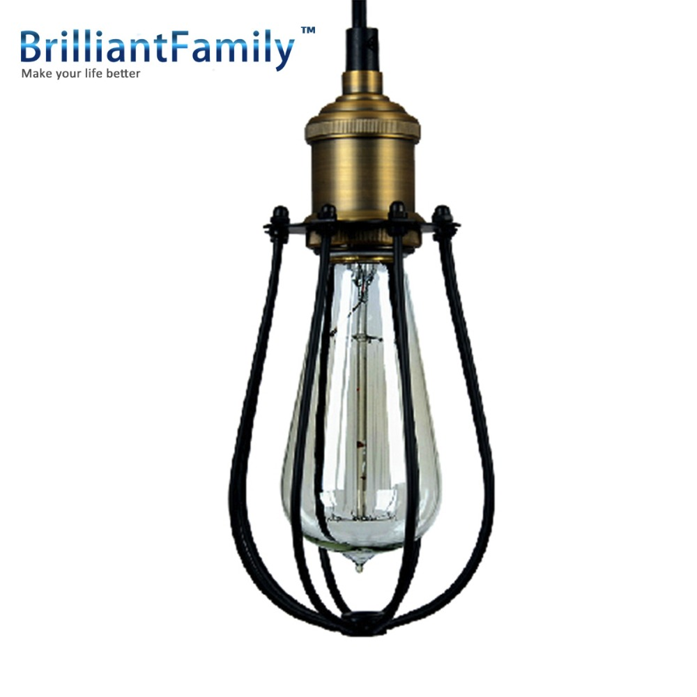 Black Retro Ceiling Fixtures Vintage Chandelier Industrial HomeDeco Tiny cages industrial cafe bars, wrought iron<br><br>Aliexpress