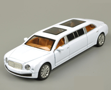 1:30 Bentley Extended Car Model Alloy Acousto-optic Flashing Pull back Simulation Mini Car Model 98833