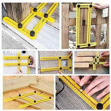 Foldable Universal Four-side Ruler Multi Angle Measuring Tool Ultimate Template(China)