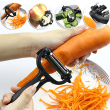 Random Color Kitchen Accessories Tools 2016 Multifunctional Carrot Potato Melon Gadget Vegetable Fruit Peeler Slicer Cutter(China)