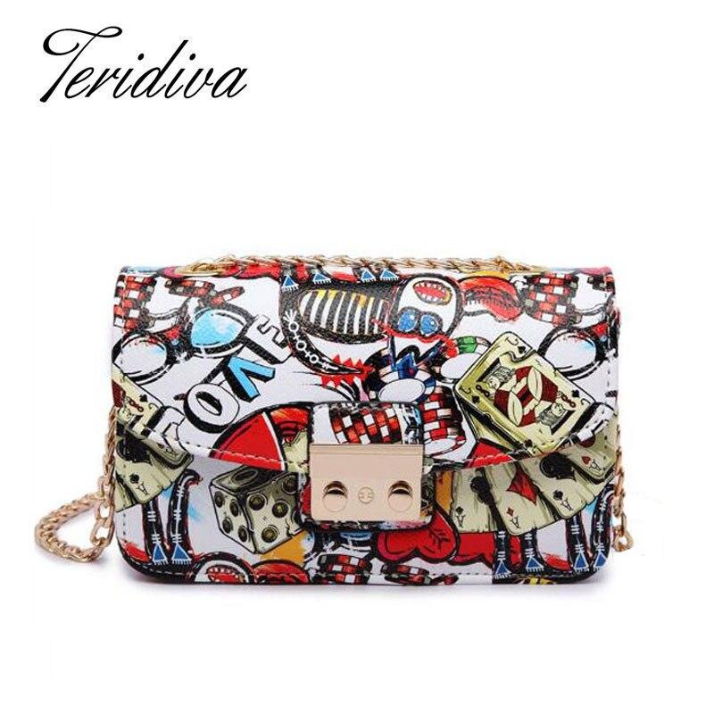 Teridiva Famous Brand Printing Handbag Small Shoulder Bags Women Messenger Bags Chain Purses and Handbags Crossbody Bag Ladies<br><br>Aliexpress