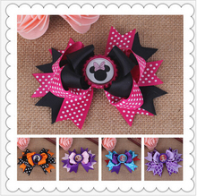 diy flowers minnie mickey baby girls hair clips for kids women of grosgrain ribbon bows for hair clip bows hairpins accessories