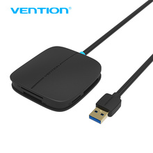 Vention  5 in 1 USB 3.0 Card Reader Multi-Function 50cm All in 1 SD TF CF MS Smart Card Reader for moblie phone pc camera