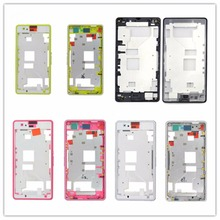 Original Front Middle Frame Bezel Battery Back Rear housing Cover with Adhesive Sticker for Sony Xperia Z1 Compact z1mini D5503