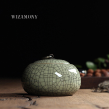 1pcs WIZAMONY Hot Sale Tea Caddy Stove Canister for puer tea all kinds of tea stainer longquan celadon chinese porcelain(China)