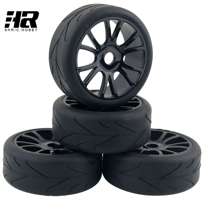 RC Car 1/8 HSP HIP wheels 17mm Hex Hub Tires Set Tyres & Wheel Rim Fit HSP RC Car Suv tires Buggy Toys Parts & Accessories