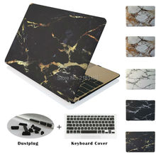 Marble Texture Painting Matte Hard Case Cover +keyboard Skin+ Dust plug for Macbook Air Pro 11 12 13 15 A1278  A1706 A1708