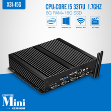 core i5 3317U DDR3 8GB 16GB SSD+WIFI Desktop Computer Mini PC Thin Client Support Wireless Keyboard Mouse And Touch Screen