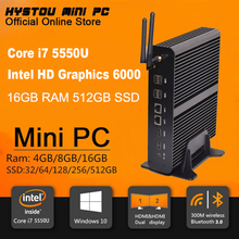 Mini PC Intel Core i7 5550U Dual LAN Gigabit NIC Windows 10/8/7 16GB RAM 512GB SSD 8*USB Ports Broadwell Intel Mini PC Win 10