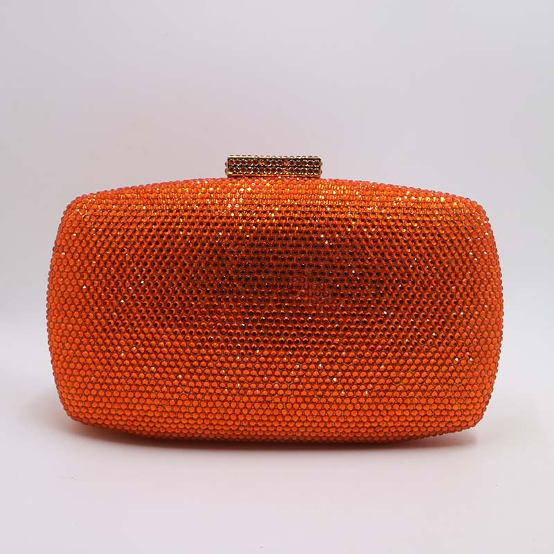 9yellowcrystaleveningbag-orange bag