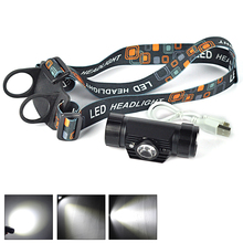 1300Lumen MINI IR Sensor Headlight LED Headlamp Frontal Lantern 1Modes Head Torch Light  for Camping by 18650 Battery