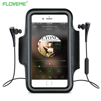 Floveme arm band case para samsung galaxy note 3 4 5 casos para iphone 7 6 plus 6 s al aire libre gimnasio sendero teléfono shell para iphone5 5S