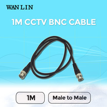 WAN LIN 10pcs 1M(3ft) BNC Cable CCTV Camera Accessories Q9 BNC To BNC RG59 Coaxial Cable For CCTV System
