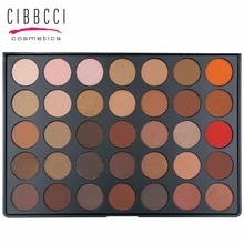 35 Color Eyeshadow Palette Earth Warm Color Shimmer Matte Eye Shadow Cosmetic Beauty Makeup Set Eye Make Up #35B(China)