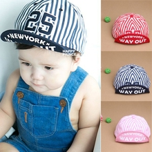 Unisex Baby Kid Girls Boys Stripes Hats Baseball Hat Flat Visor Snapback Cap