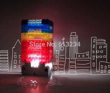 Free Shipping 1Piece DIY Touch Sensor Building Blocks Table Lamp USB Power