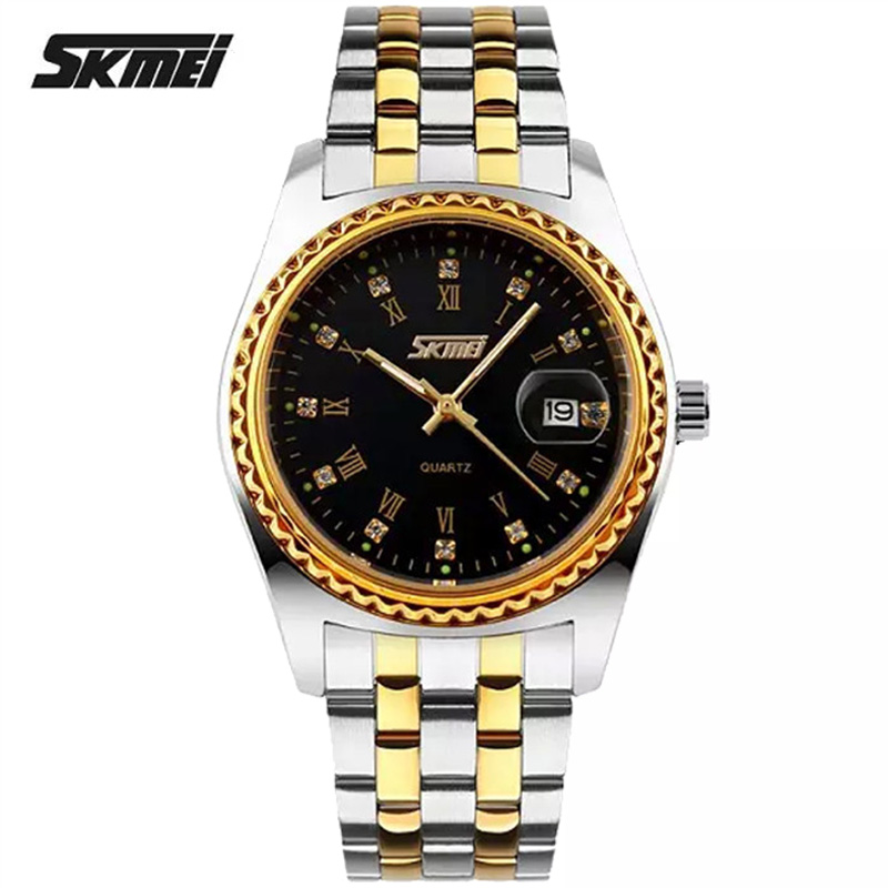 Watches men Skmei luxury brand quartz wristwatch casual Business reloj hombre dive 30m sport gold Clock relogio masculino 9098<br>