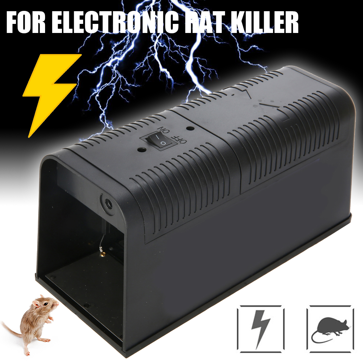 Mayitr Electronic Mouse Trap Control Rat Killer Electric Rodent Pest Mice Assassin Traps Garden Supplies Pest Control