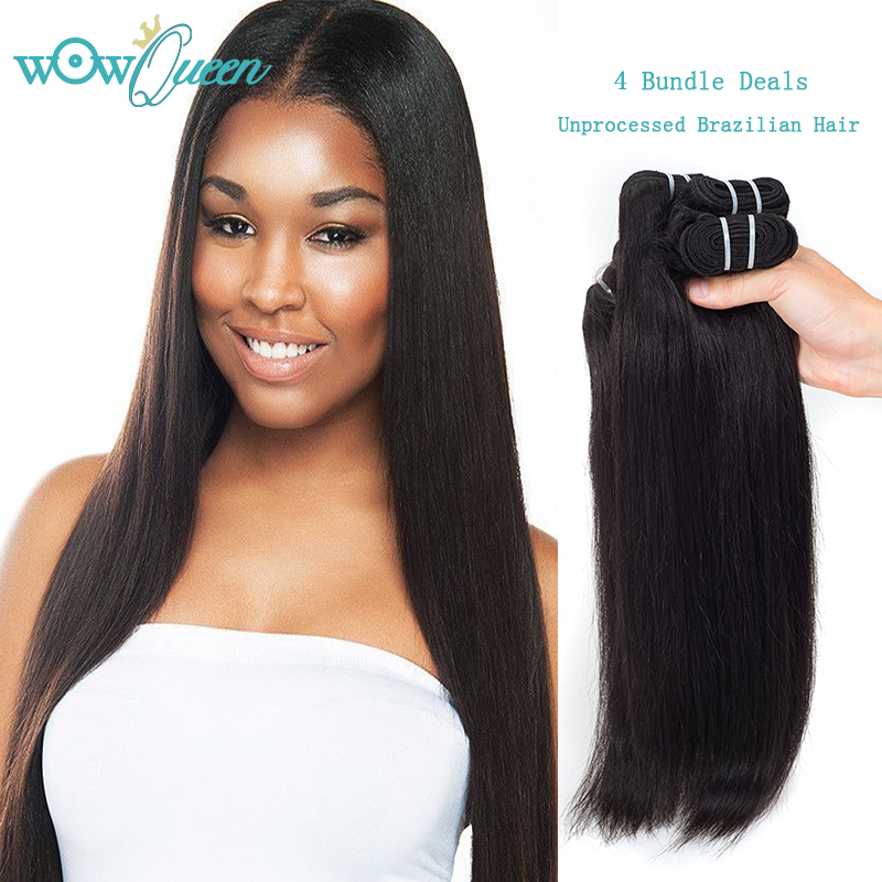 Straight Indian Virgin Hair 100% Real Indian Hair Bundles Raw Human Hair Weave Remy Indian Hair Straight Extension 4pcs/lot<br><br>Aliexpress