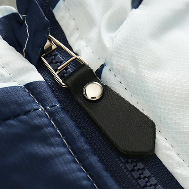 CROAL CHERIE 80-120cm Fashion Star Windproof Striped Jacket For Boys Winter Coat For Girls Children\`s Winter Velvet Clothes (9)