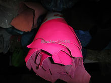 Genuine  Neon Pink /Green Goat Leather Material for Purse/Shoes/ Handbag ,Free Shipping