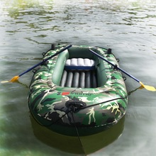2/3/4 persons Intime camouflage inflatable boat boats and motor two thick