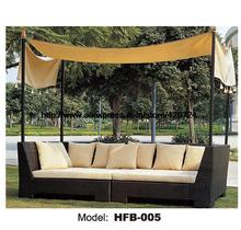 Outdoor Sofa Bed Rattan Garden Lying Bed Chaise Longue Holiday beach Rattan Sofa Lounger Terrace Sun Chair Sofa balcony Sofa
